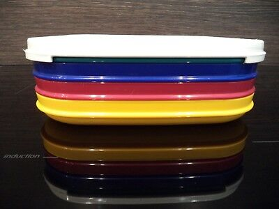 4 Vintage Tupperware Stacking Picnic Plates And Lid .