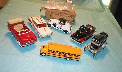 Rare Collectible 6 Diecast Car Truck Bus Dairy Queen Banks Keys Limited Editions