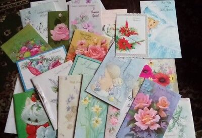 23 Vintage Greeting Cards Christmas Birthday Sympathy Scrapbooking Altered Art