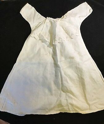 Vintage Newborn Cotton Nightgown all White with Eyelet Trim