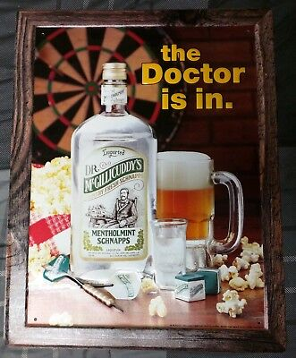 Dr. Mcgillicuddy's Schnapps / Dart Board Metal / Tin Sign Bar / Man Cave Darts