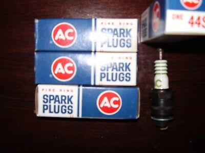 Vintage NORS 1960's AC 44S Spark Plugs