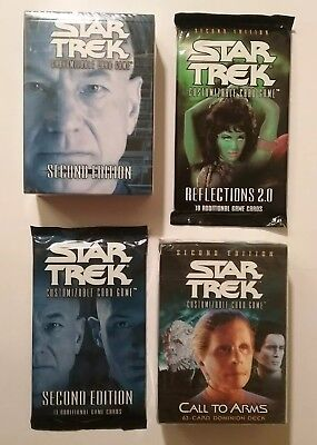 STAR TREK CCG SECOND ED. SEALED BOOSTER DECK LOT x4 REFLECTIONS 2.0 CALL TO ARMS