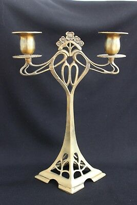 Lovely Art Nouveau Style Bronze Candlesticks