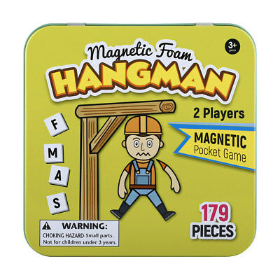 NEW Magnetic Travel Game Hangman Kids Fun Family Indoor Outdoor Christmas Gift!