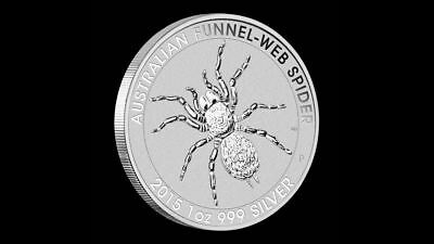 4 x 1oz 2015 Funnel Web Spider .999 Pure Silver Coins Perth Mint