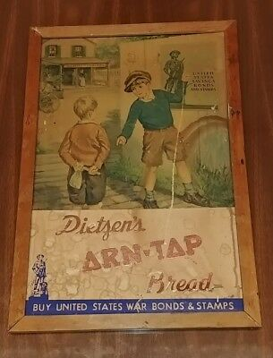 Vintage Dietzen's Corn-Top Bread War Bonds Stamps Advertisment