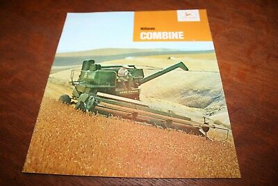 John Deere 95-H Hillside Self-Propelled Combine Brochure 16,18 Foot 1965!