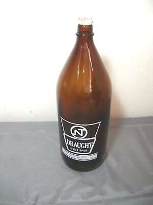 Nt Draught 2.25L Large Beer Bottle Exc To N/mint Empty + Cap - Darwin Stubby Big