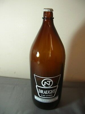 Nt Draught Darwin Stubby 2.25L Large Beer Bottle Exc To N/mint Empty + Cap - Big