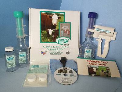 Udderly EZ Cattle Cow Calf Colostrum Milker Kit Milking