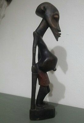 Rare African Hand Carved Wood Makonde Spirit Sculpture, Great Condition..