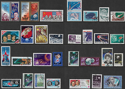 RUSSIA mixed collection No.71, Space, Astronauts, CTO & used