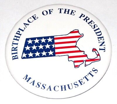1992 MASSACHUSETTS GEORGE BUSH campaign pin pinback button political president