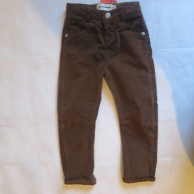 Boys  vevet trouser jeans DESIGNER age 3 4 5 6 7 8 9 10 years RRP £30 brown blue