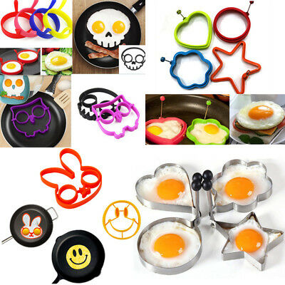Multi-Style Breakfast Fried Egg Silicone Mold Pancake Ring Cooking Kitchen Tool