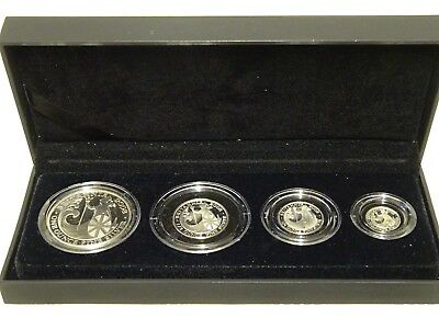 Cased Royal Mint 2008 Britannia Four Coin Silver Proof Set