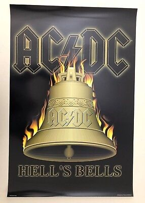 Ac/dc, 'hell's Bells', Rare Authentic Licensed 2001 Poster
