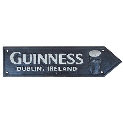 Guinness Beer Sign Cast Iron Retro Man Cave