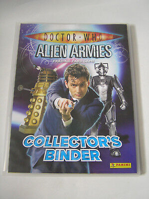 DOCTOR WHO - Alien Armies - Panini Collector's Binder plus over 120 cards Dr Who