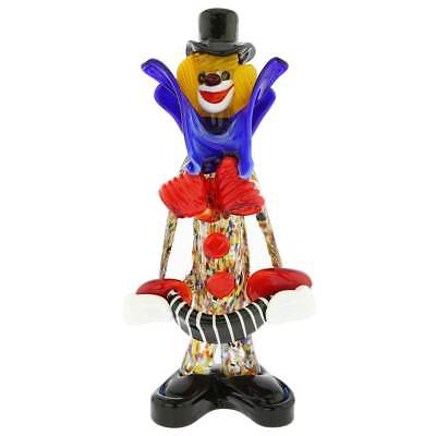 GlassOfVenice Murano Glass Clown With Accordion