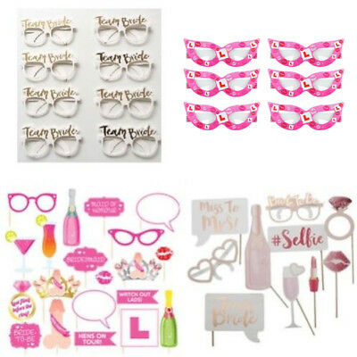 Hen Party Team Bride Photo Booth Picture Props Girls Night Out
