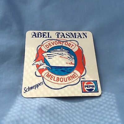 "Collectable drink coasters - ""ABEL TASMAN"" NEW PERFECT CONDITION."
