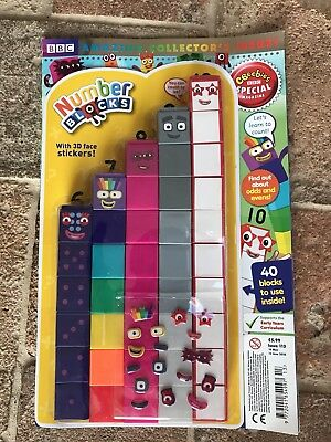 Numberblocks Collectors Magazine With Blocks and Stickers 6-10 - Mint Condition