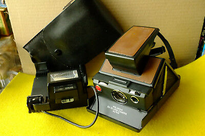 POLAROID SX 70 LAND CAMERA ALPHA black, Camera is tested good condition and Bag!