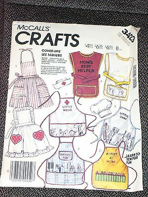 """""children's Apron Pattern - Assorted Designs"""" - New, Uncut - Great Gift Idea!"