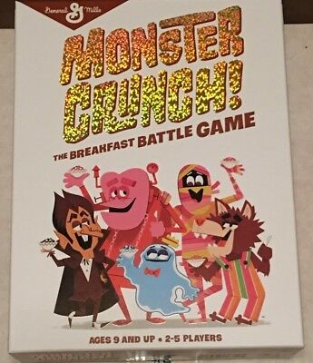 Monster Crunch The Breakfast Battle Game Mib! Gm Cereal Monsters Frankenberry ++