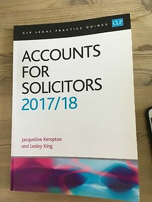 CLP Legal Practice Guides - Accounts for Solicitors 2017/18