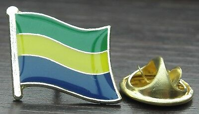 Small 25mm Lapel Pin Button Badge Novelty Gabon Gabonese Flag