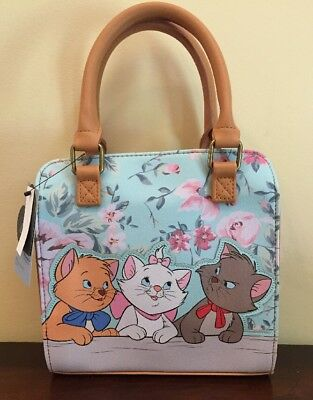 Disney Loungefly Aristocats Marie Toulouse Berlioz Floral Crossbody Purse NEW