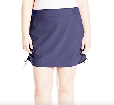Columbia Womens Anytime Casual Skort 1X 2X Plus Skirt Attached Shorts Nocturnal