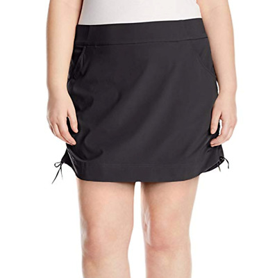 Columbia Womens Anytime Casual Skort 2X Plus Skirt w/ Attached Shorts Black
