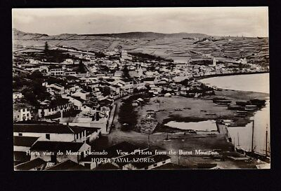 Portugal Azores HORTA FAYAL-ACORES General view c1920/30s? RP PPC