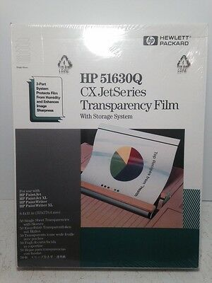 Hp 51630Q Cx Jet Series Transparency Film W Storage System 50 Sheets New