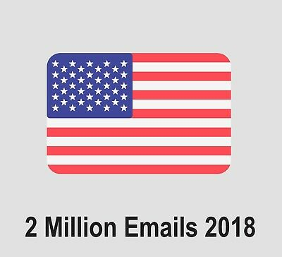 ✅ USA 2,000,000 (2 Million) Email List For Email Marketing - FRESH 2018
