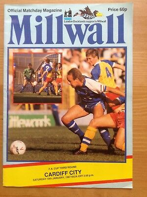 MILLWALL v CARDIFF CITY FA Cup Third Round 1986/87