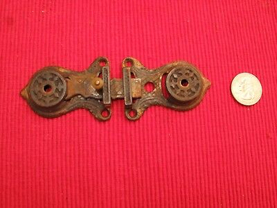 Antique Victorian Eastlake Bronze Brass 1867 Ornate Latch Lock Dolphin Scales