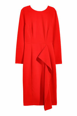 Red cocktail dress H&M New with Tags size 8 UK 34