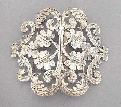 Antique Edwardian solid silver nurse's buckle, Able & Charnell, B'ham 1902