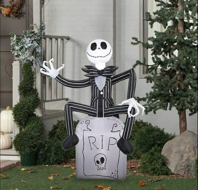 airblown inflatable halloween inflatable 7ft tall jack skellington nightmare before christmas decoration by gemmy