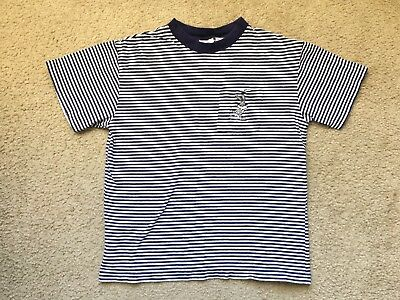 Youth Vintage 1995 Looney Tunes Bugs Bunny T Shirt Striped Pocket Size Xl