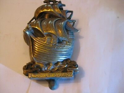 Heavy Old Brass Door Knocker,,  Sail Ship