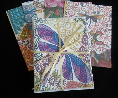 DRAGONFLY themed Blank Note Cards.  Set of 8.