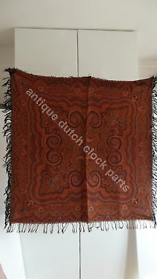 "Vintage/antique Colorful Folklore Arts & Crafts Dutch Paisley Shawl ""bietkleed"""