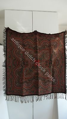 "Antique Colorful Folklore Arts & Crafts Dutch Paisley Shawl ""bietkleed"""