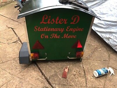 Lister D Stationary engine WATER PUMP ON TRAILER